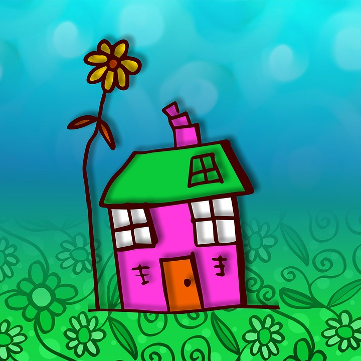 Nakreslený domek