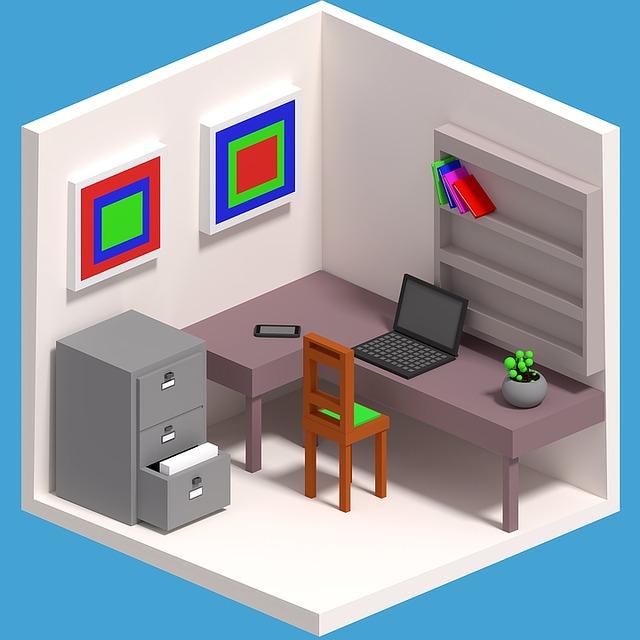 kreslená kancelář