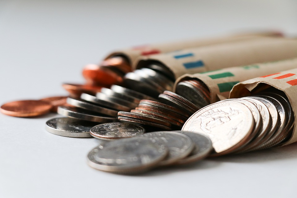 zabalené mince
